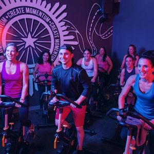 Studio Fitness spin class at Mountainside Fitness cycle studio