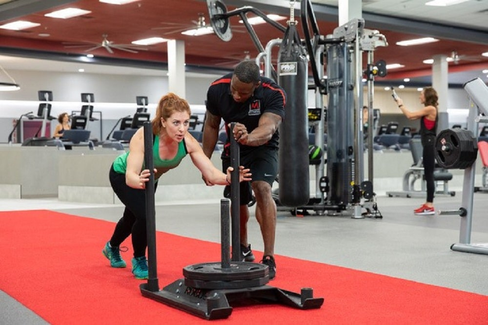 exercise training phoenix az Woman and Trainer