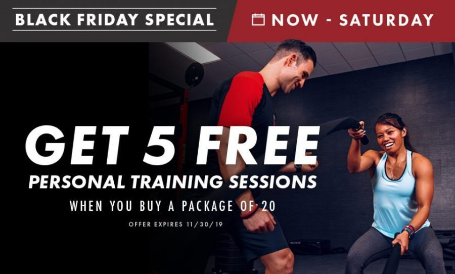 Personal Training Black Friday Promotion